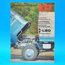 DDR KfT Kraftfahrzeugtechnik 6/1987 Tula Maruti 800 Honda Accord IFA L 60 E