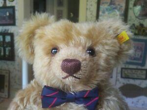 Large Brown Mohair Steiff Classic Teddy bear Germany EAN 004445 18in EUC