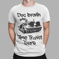 Back To The Future T-Shirt Delorean Doc Brown Time Travel Tours Marty Mcfly Tee