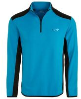 Greg Norman Mens Sweater Blue Size XL Ottoman Ribbed 1/2 Zip Pullover $70 148