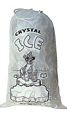 CRYSTAL 20 LB / LBS Plastic Ice Bag Bags With Drawstring *PACK OF 100* Case NEW