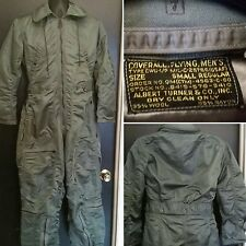 Vtg USAF Flying Coverall Vietnam WW2 Air Force Winter Insulated Suit Mens Small
