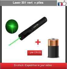 pointeur laser 301 vert ultra puissant 1 mw - 532 nm +1 pile