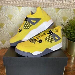Nike Air Jordan 4 Retro PS Lightning Shoes 3Y Sneakers Tour Yellow BQ7669-700