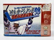 Wayne Gretzky 3d Hockey 98 Nintendo 64 Box Cart Manual Tested NHL