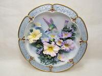 "Bradford Exchange 3D Collector Plate 6.5"" Amethyst Glory Jewel w/ COA  116-1"