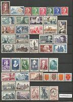 FRANCE  Année 1955 Complète 46 Timbres neufs ★★ luxe / MNH