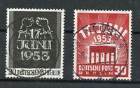 Berlin 1953, Volksaufstand in der DDR Briefmarkensatz Mi.Nr. 110- 111 gestempelt