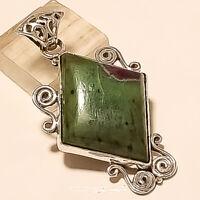 Natural Brazilian Ruby in Fuchsite Pendant 925 Sterling Silver Designer Jewelry