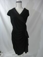 AMERICAN LIVING Womens Black Ruffled Cap Sleeve Dress SIZE 16  NEW WITH TAGS