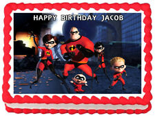 The Incredibles Party Edible Cake topper image