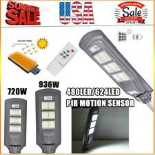990000LM 720W 936W LED Solar Street Light Commercial Dusk to Dawn Road Lamp A+