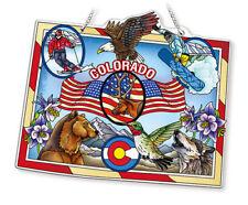 Colorado State Amia Stained Glass Suncatcher 8 X 6.5 42741
