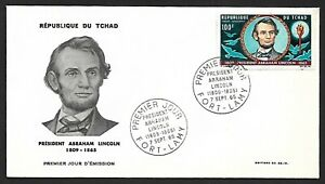 Chad 1965 Lincoln First Day Cover FDC