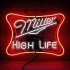 Real Glass Display Neon Signs MILLER Lite HIGH LIFE  19x15 -037