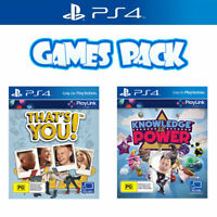 Playstation 4 Games Bundle Thats You & Knowledge is Power PS4 Playlink Game