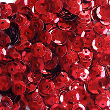 Sequins Red 8mm Round Cup ~400 or ~4,750 pieces Loose High Quality
