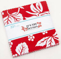 "Riley Blake, It's The Berries, 5"" Charm Pack, Fabric Squares, 5-8900-42, SQ110"