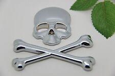 D899 Skull Schädel auto aufkleber 3D Emblem Badge car Sticker metall groß Silber