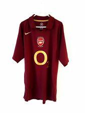 Arsenal Camisa De Casa 2005. medio. Nike. Rojo Adultos Manga Corta Fútbol Talle M
