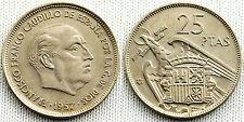 ESTADO ESPAÑOL 25 PESETAS 1959*59 XF/EBC COLOR Y PARTE DEL BRILLO ORIGINAL