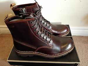 Clarks Mens BIKER **NORTON Mellor Rise Dark Brown/ Black Leather**BOOTS UK9.5 10