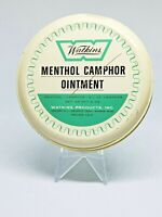 Vintage Medicine Tin: Watkins Menthol Camphor Ointment, 5 Oz, Empty