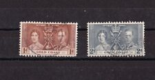 GOLD COAST  Côte d'Or 1937 Georges VI  2 timbres