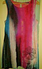 Desigual - Kleid, Gr. XL, pink/muster, getragen, wenige normale Gebrauchsspuren
