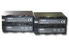 2x Bateria 5400mAh para SONY  HVR-Z1E, HXR-NX5E