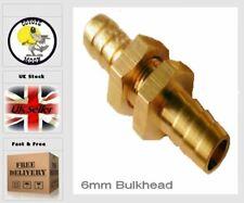 6mm bulkhead pneumatic fitting barb Fuel Air Gas Water Oil UK  61