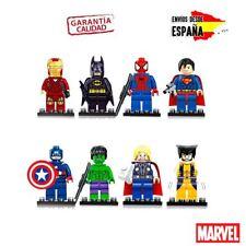 COLECCION MINI FIGURAS MARVEL LEGO THOR SPIDERMAN IRON MAN VENGADORES HULK