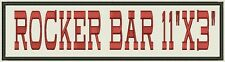 "Embroidered Name Tag, Biker Patch, badge, Bar  11"" x 3"" Add your Text"