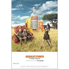 ABSOLUT PUNCH  POSTER  24 BY 36  INCH