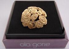 Escocés Ola Gorie 9 Ct Amarillo Doradas Rosas Broche