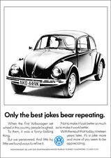 VW BEETLE RETRO POSTER A3 PRINT FROM CLASSIC 70'S ADVERT 1972