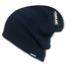 Navy Blue Knit Skull Winter Ski Warm Baggy Snowboard Beanie Beanies Cap Hat Hats