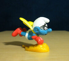 Smurfs Superman Super Hero Smurf Portugal Vintage Figure PVC Toy Peyo Lot 20127