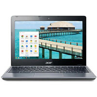 "Acer C720-2844 11.6"" Google Chromebook Laptop Intel Celeron 4GB RAM 16GB SSD"
