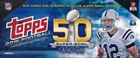 (3) 2015 Topps Football LIMITED EDITION 50th SUPER BOWL 500 Card Factory Sets