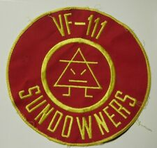 1960s Large VF-111 Sundowners Flight Jacket Patch - US Navy - Omar F-8D Crusader