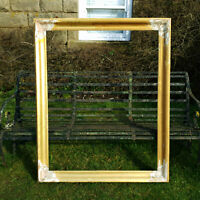 Victorian C19th Gilt Flared Framed Large Wall Mirror Frame / Picture Frame