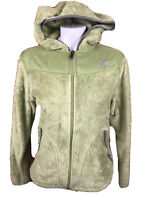 The North Face Jacket Womens Medium Green Fuzzy Full Zip Outdoors TNF Ladies 256