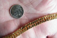 "18kt BRACELET Yellow GOLD Filled OPEN CABLE LINKS Durable Clasp 8 1/4""  NEW!"