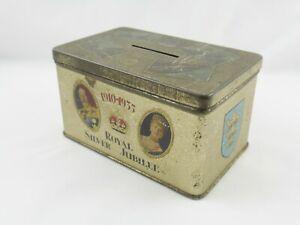 Vintage George V Royal Silver Jubilee Commemorative Money Box Lord Mayor Of Hull