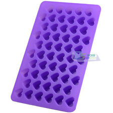55 Mini Heart Shape Chocolate Candy Cake Cookies Silicone Mould DIY Baking Tool