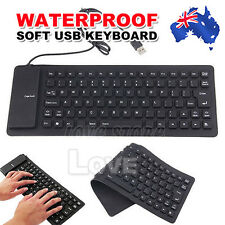 Portable Foldable Mini Flexible Silicone PC USB Keyboard For Laptop Notebook