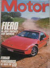 Motor magazine 15/9/1984 featuring Pontiac Fiero, Ferrai, BMW, Audi, Alfa Romeo