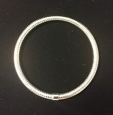 STAINLESS STEEL HOLLOW SILVER BANGLE BRACELET - BRAND NEW!