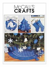 McCalls SEWING PATTERN 3777 Christmas Tree Skirt,Stockings & Decorations